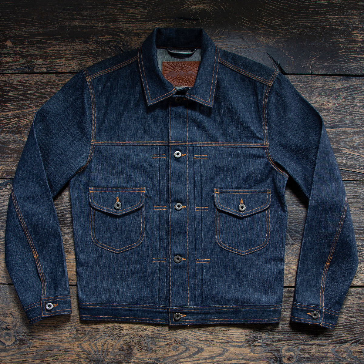 The Badlands Denim Jacket in 13oz 'Blue Collar' Cone Mills Selvage