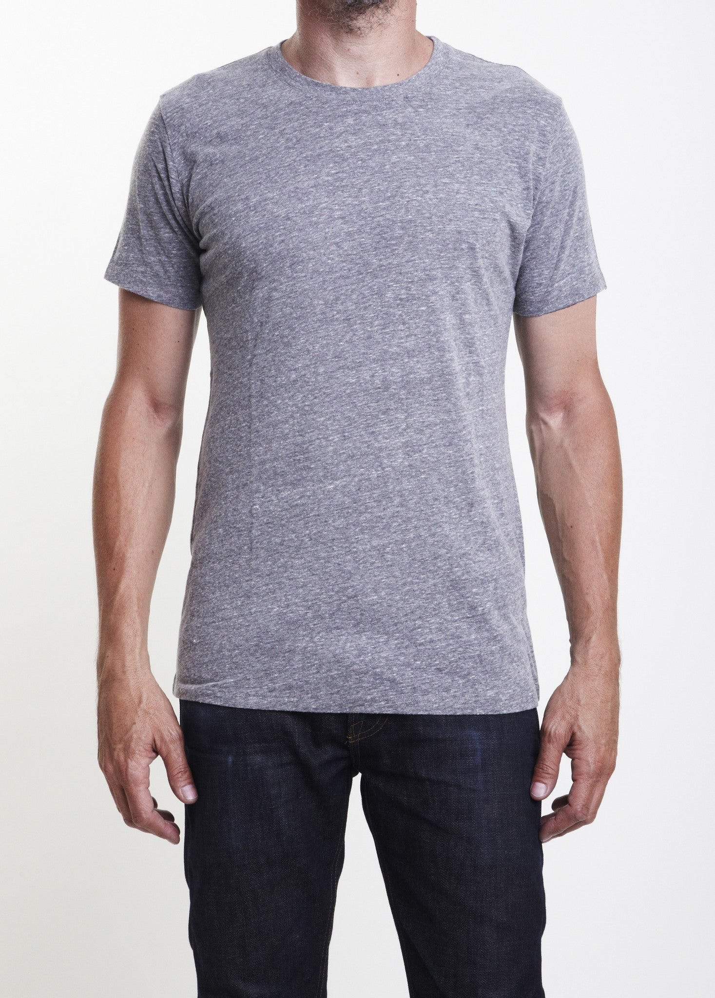 9ad837be Short Sleeve Organic Cotton Crew Neck T Shirt/Single Color 3-Pack - Brave  Star Selvage