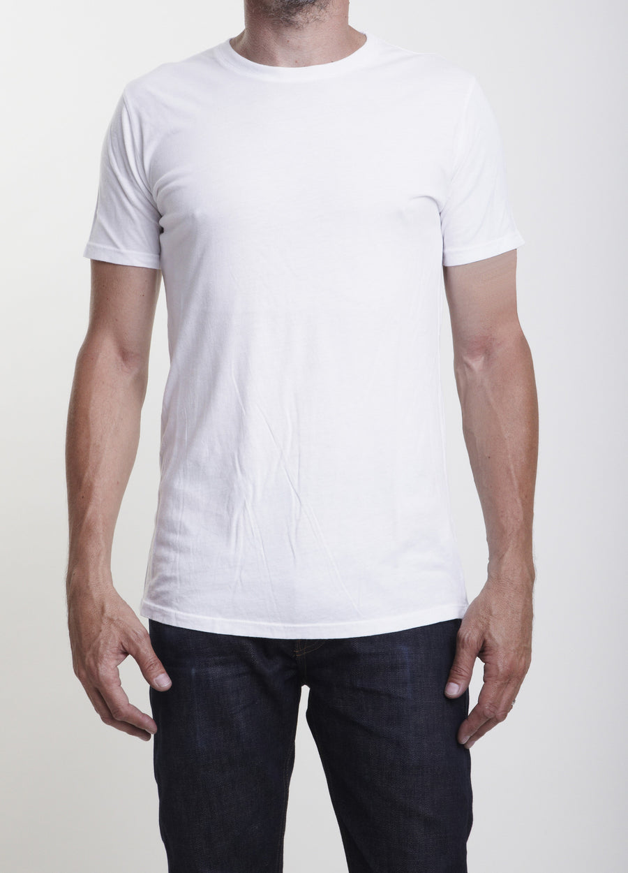 Short Sleeve Organic Cotton Crew Neck T Shirt/Single Color 3-Pack