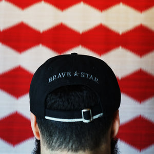 Cone Mills x Brave Star Selvage Denim Hat in 12oz Double Black