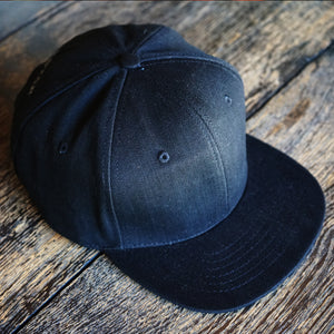 The Brave Star x Cone Mills Selvage Denim Hat in 12oz Double Black