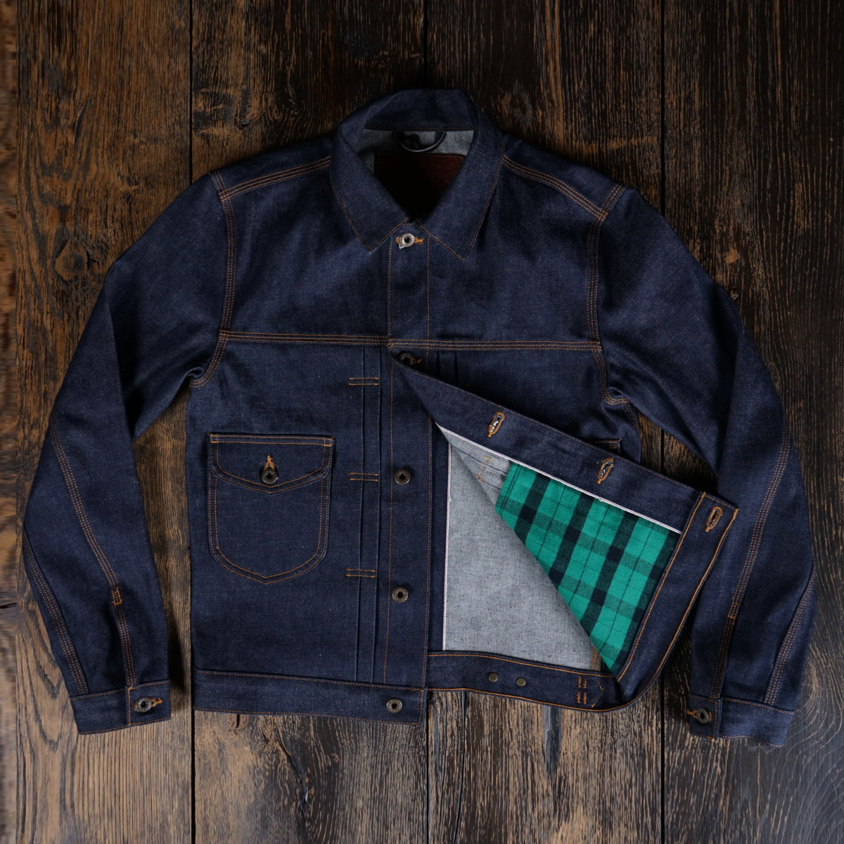 The Badlands Denim Jacket in 13.5oz Natural Indigo Japan Selvage