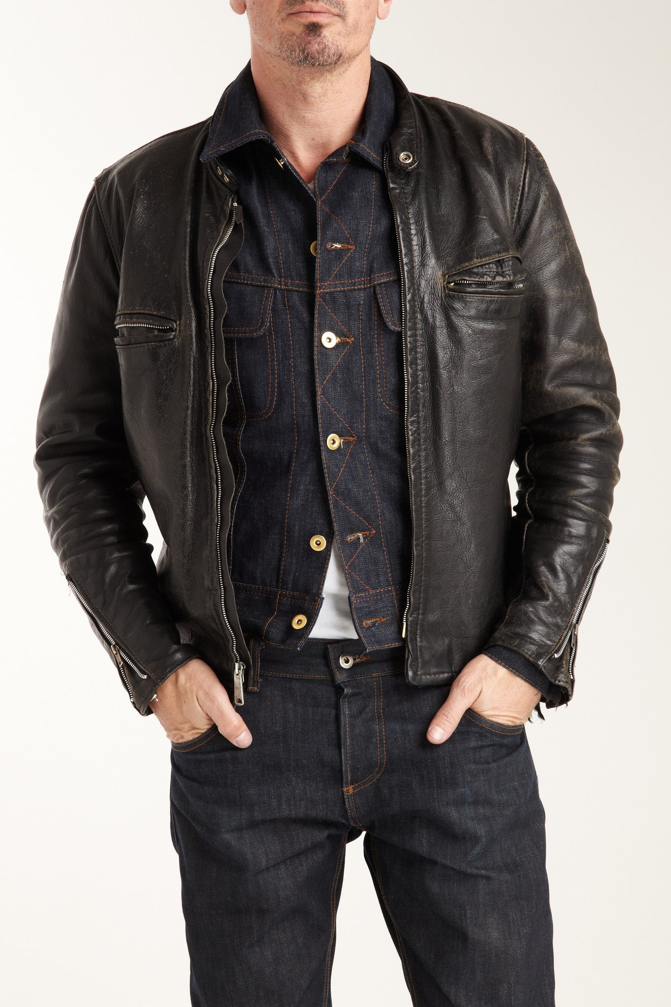 The Steadfast Selvedge Denim Jacket Cone Mills Denim Brave Star