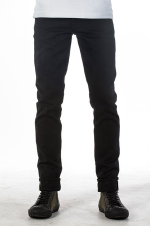 The Skeleton Skinny 15oz Double Black Selvage Denim