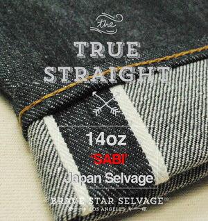 The True Straight 14oz 'Sabi' Left Hand Japan Selvage