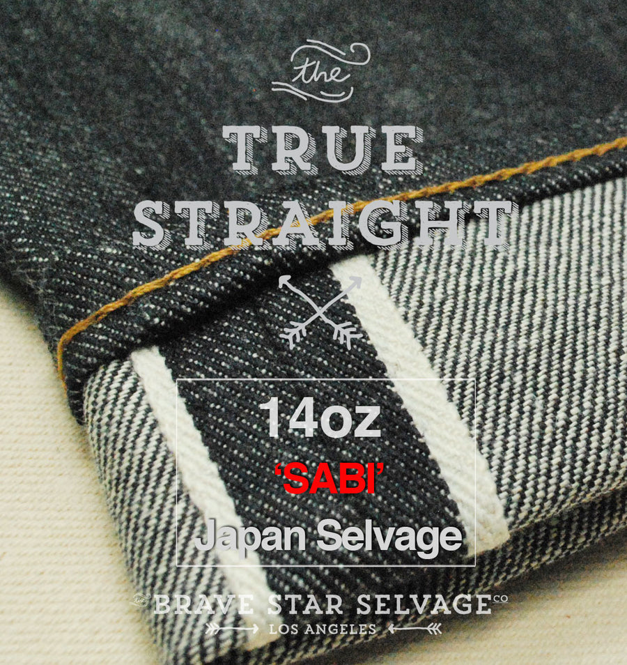 The True Straight 14oz 'Sabi' Left Hand Japan Selvage Pre Order