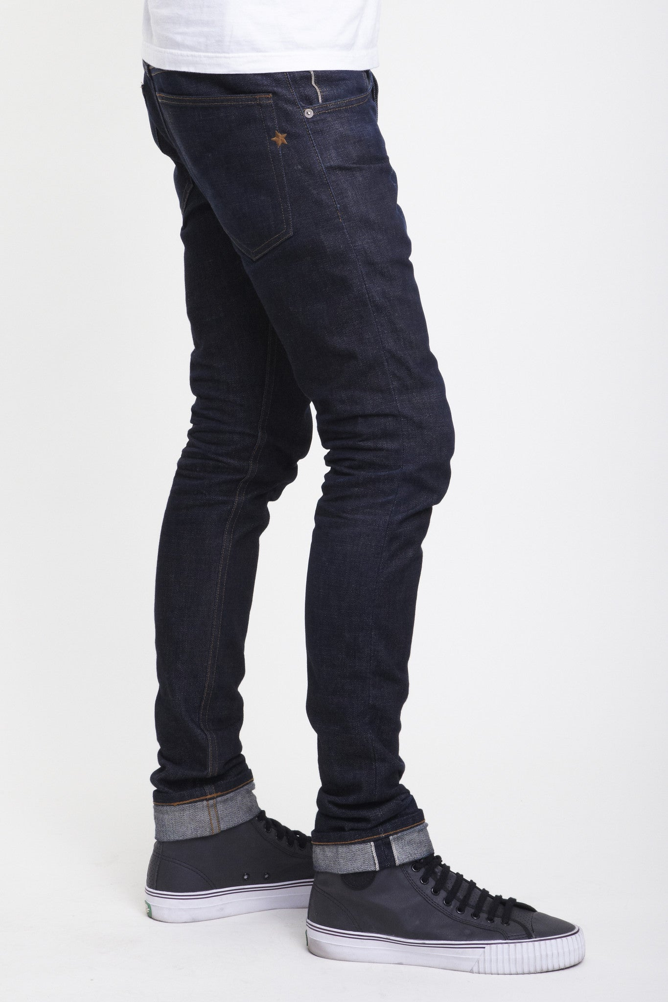 Well known The Skeleton Skinny 11.75oz Cone Mills Stretch Selvage - Brave  ZI86
