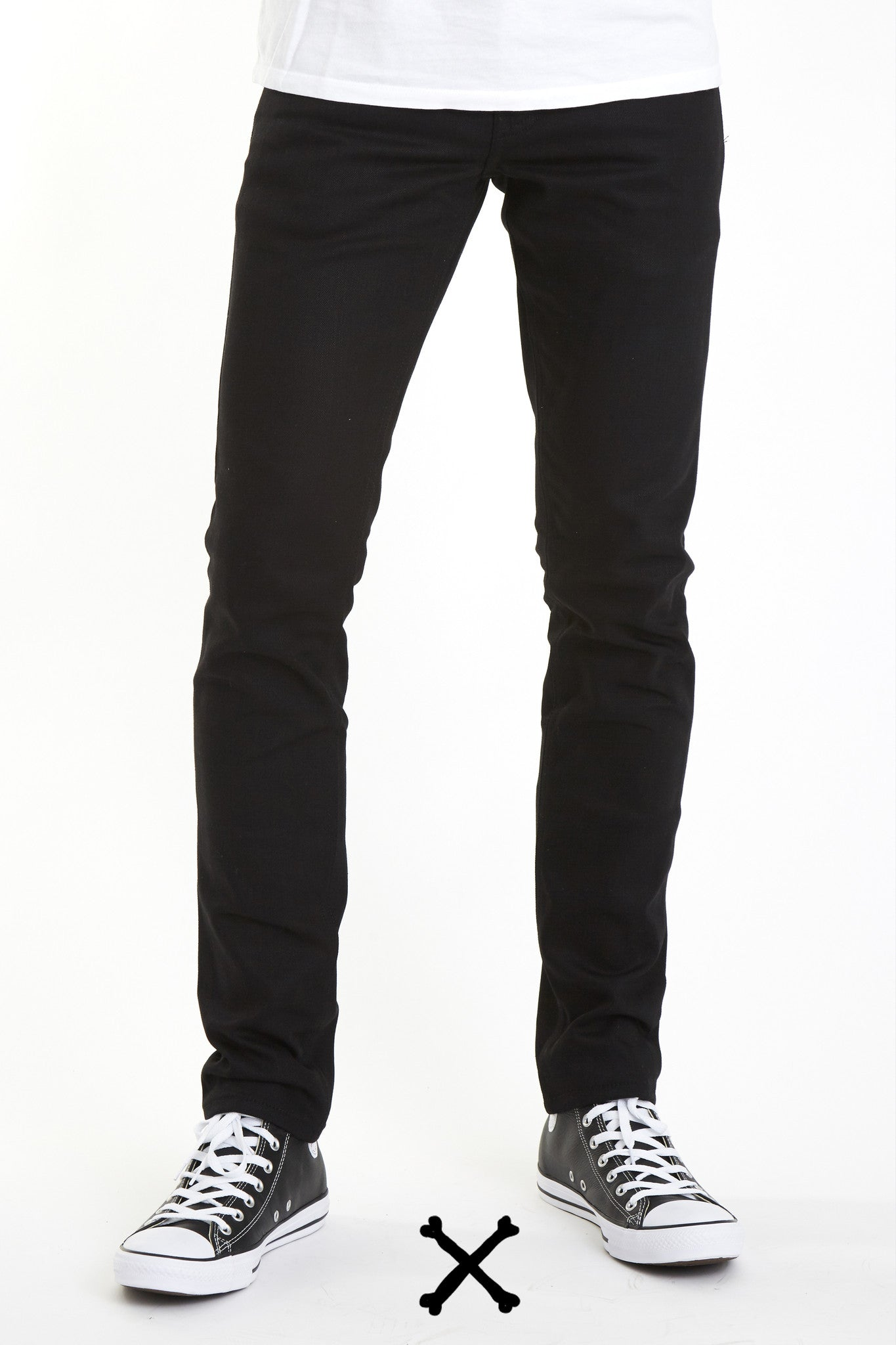 Affordable Black Japanese Skinny Selvedge Stretch denim selvage