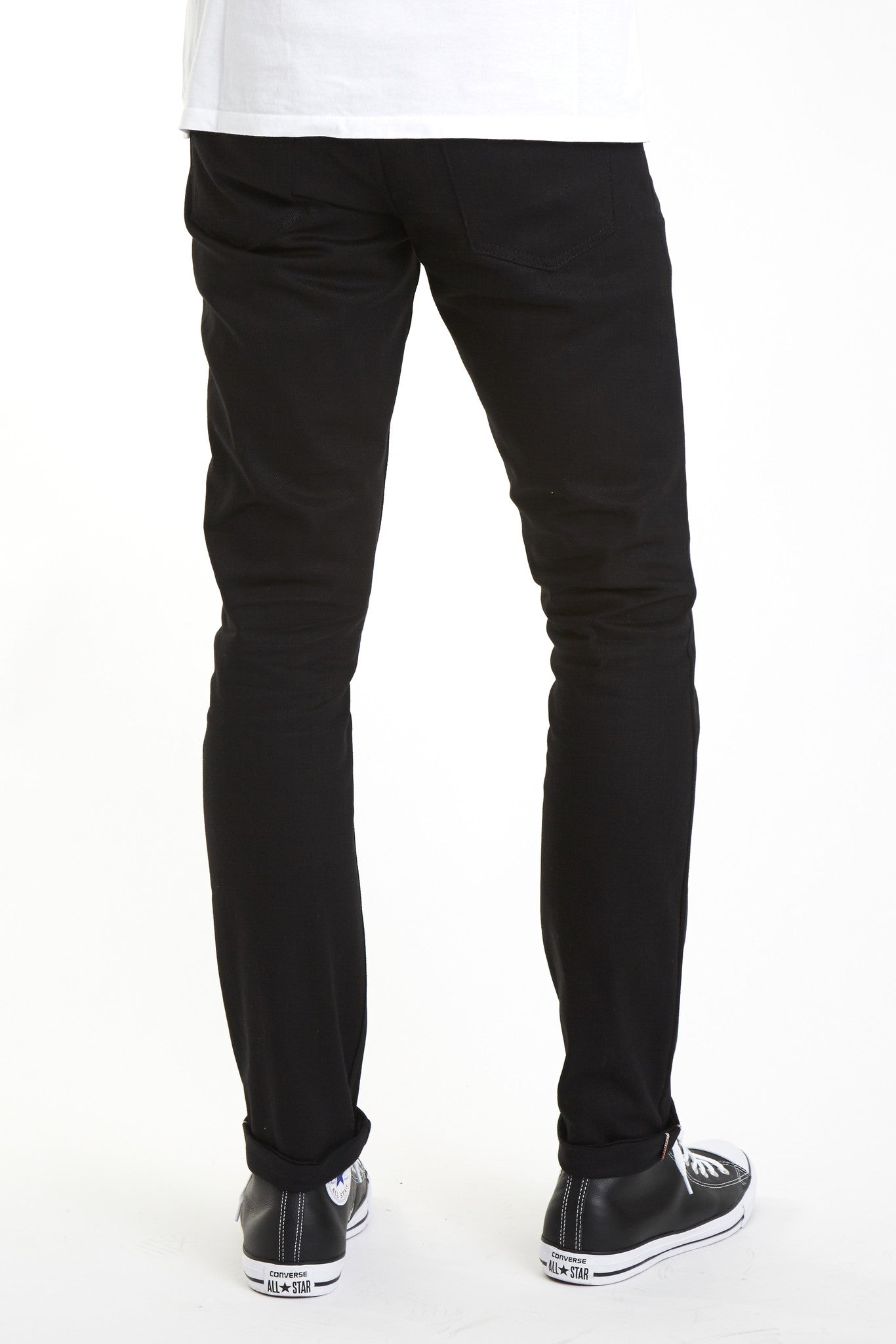 Japanese Affordable Black Selvedge skinny Stretch denim selvage