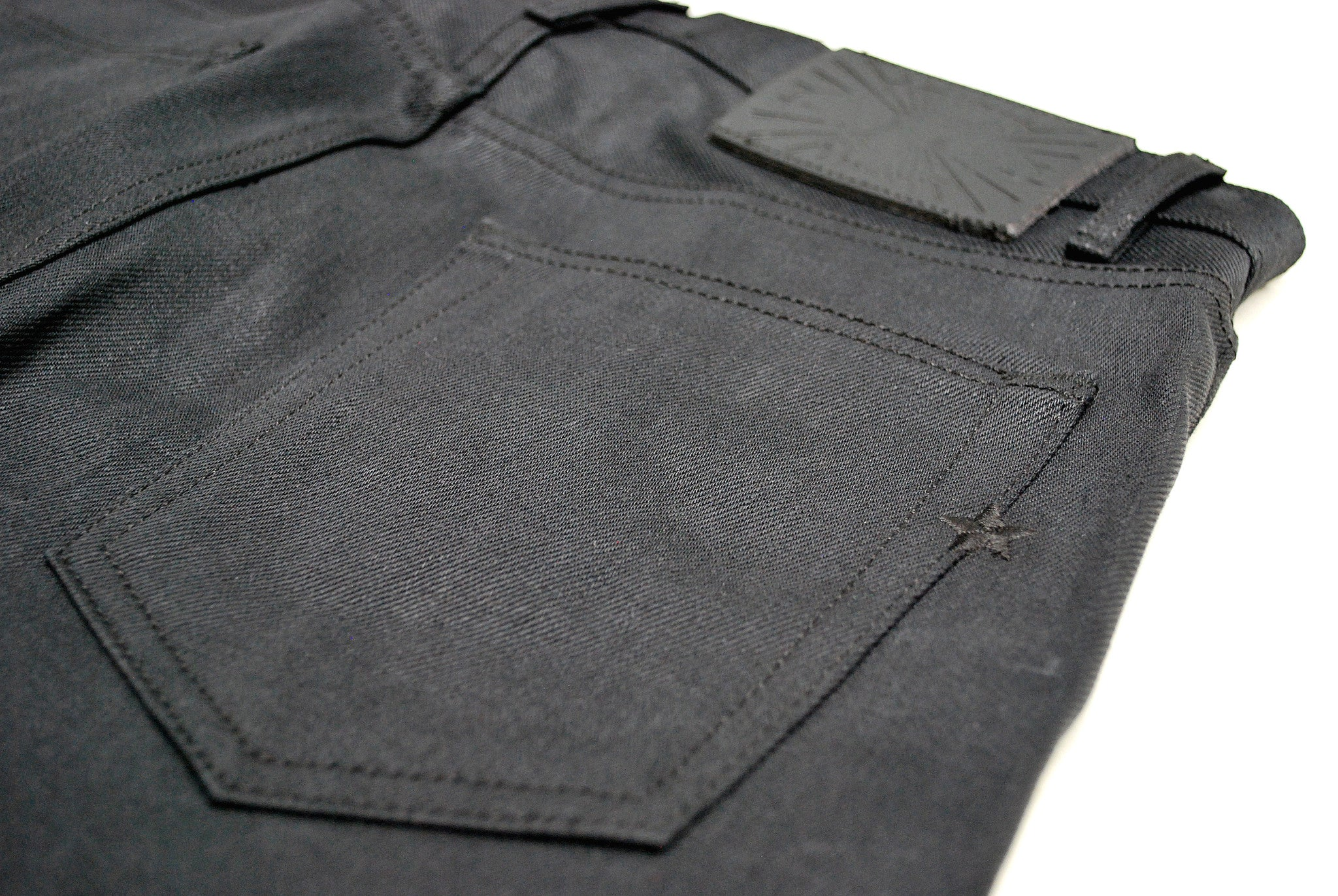 The Skeleton Skinny 12oz Double Black Cone Mills Selvage