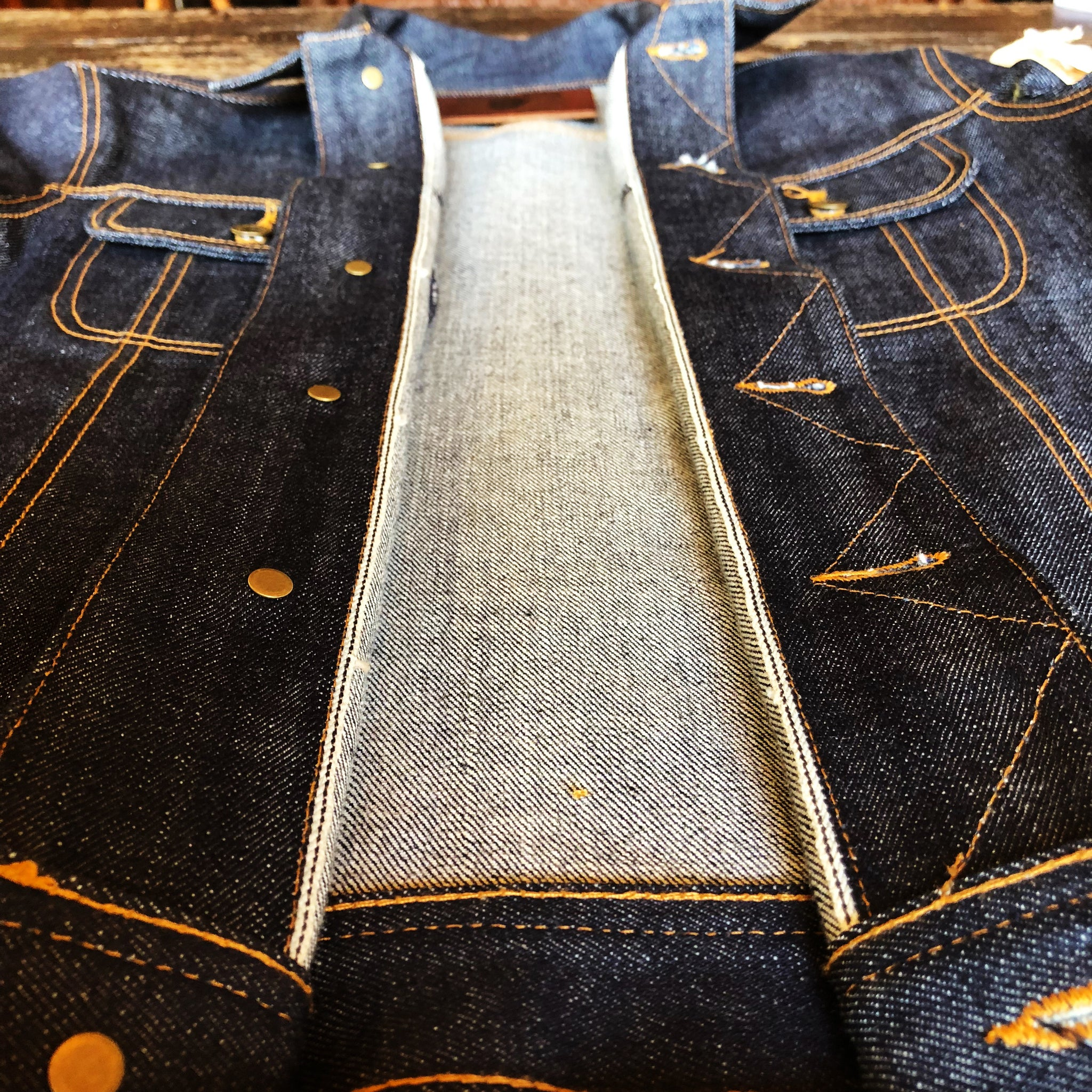 The Steadfast 13.5oz  Cone Mills 'Blue Collar' Selvage Denim Jacket Pre Order