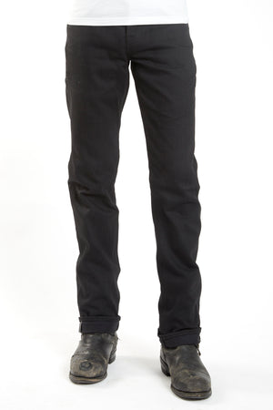 The True Straight 12oz Double Black Cone Mills Selvage