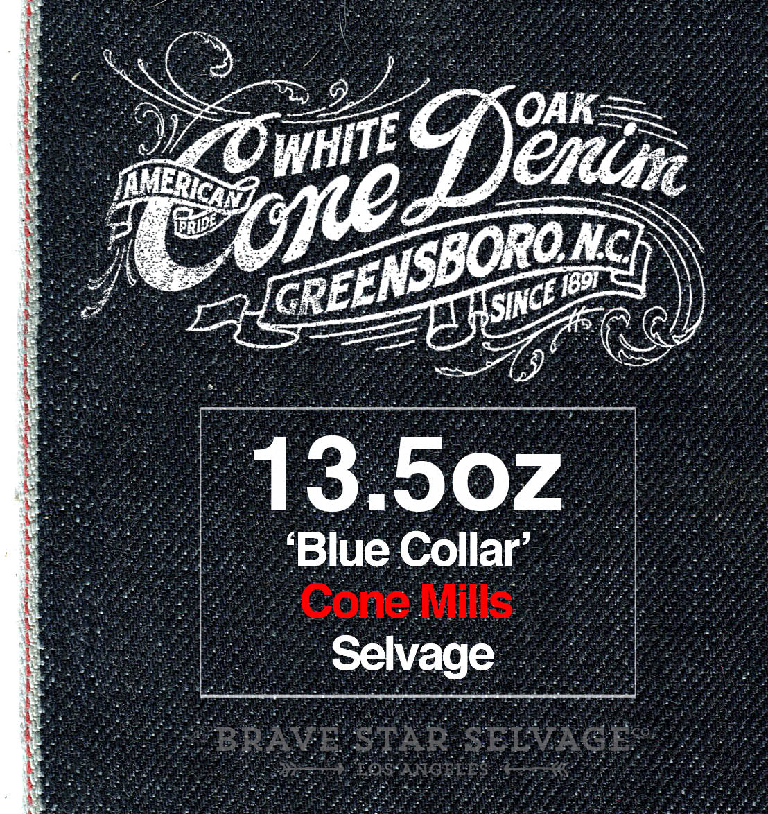 The True Straight 13.5oz ' Blue Collar' Cone Mills Selvage