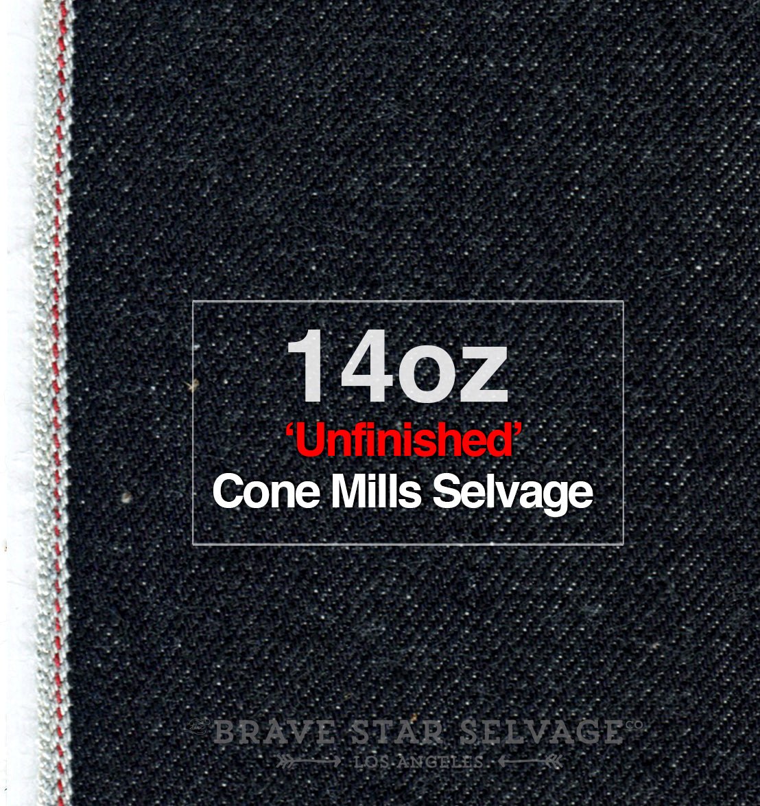 The Slim Taper 2.0 14oz 'Unfinished' Cone Mills Selvage