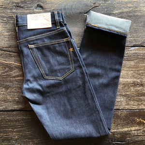 The Slim Straight 13.5oz Cone Mills 'Golden Gate' Indigo Selvage