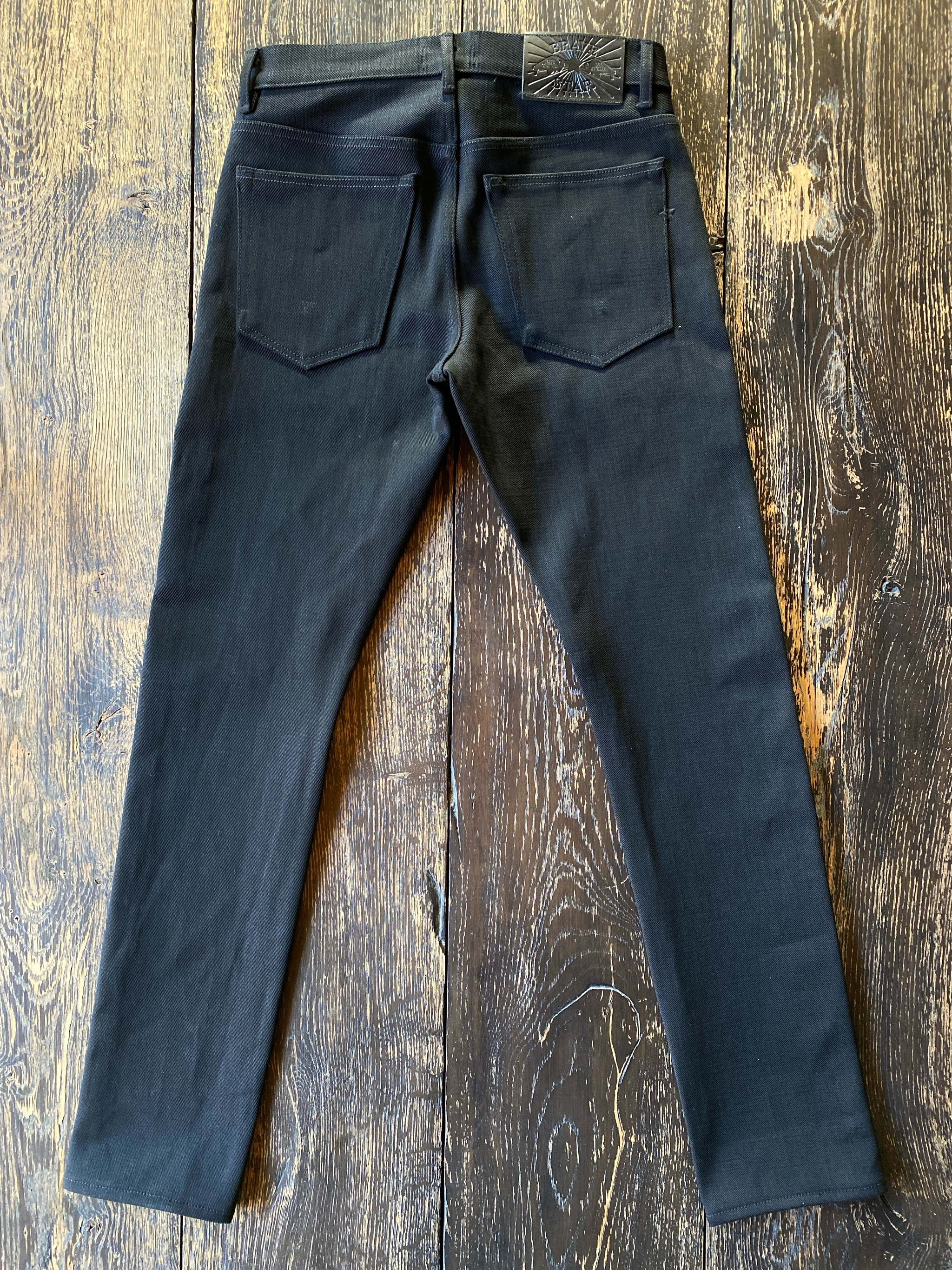 The Regular Taper 21.5oz Heavyweight Double Black Selvage Denim
