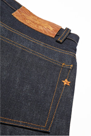 BSJ101 Slim Straight Cone Mills Selvedge Back Pocket Star Embroidery