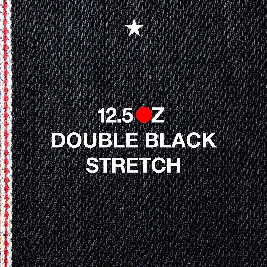 The Slim Straight 12.5oz 'Budokan Black' Stretch Japan Selvage