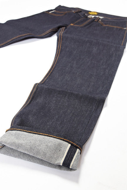 BSJ104 Slim Taper Cone Mills Selvedge Cuff close up