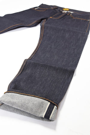 BSJ101 Slim Straight Cone Mills Selvedge Cuff Close Up