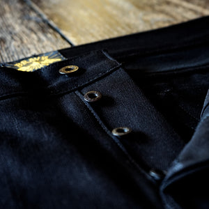 The Regular Taper 15oz Double Black Selvage Denim
