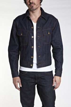 BSDJ100 SELVAGE DENIM JACKET CONE MILL SELVEDGE FRONT FIT