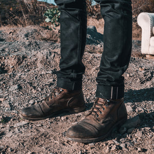 The Slim Straight 15oz Double Black Selvage