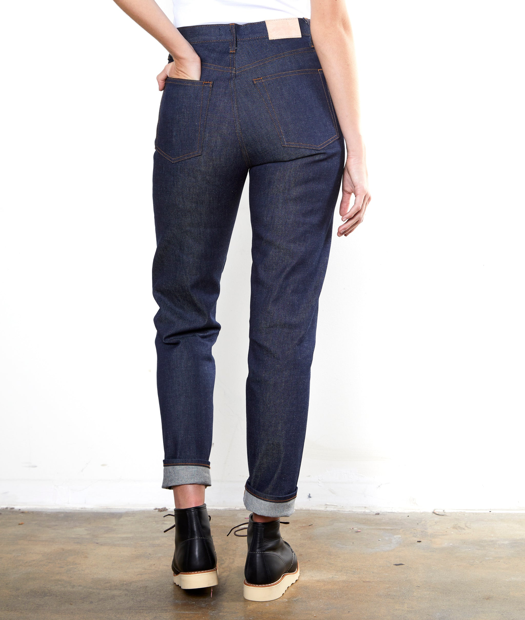 The Scout - Womens Hi-Rise Taper Selvage Denim Jean
