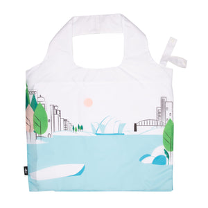 Reusable Fold Up Bag - Green House
