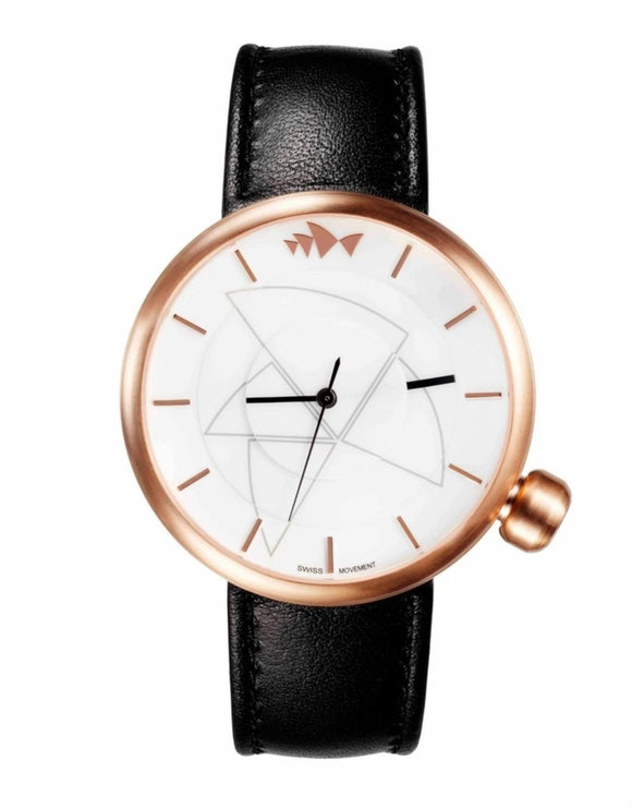 Bausele Rose Gold Watch - Black