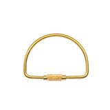 Golden D Shape Keyring