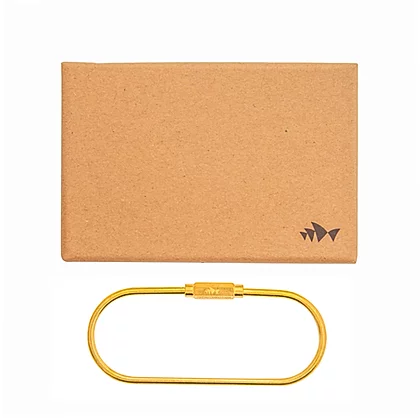 Golden O Shape Keyring