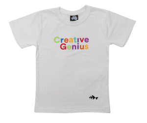 3D Font Collection Kids Tee - Creative Genius