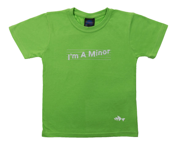 3D Font Collection Kids Tee - I'm A Minor