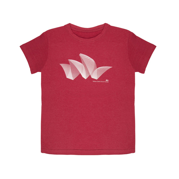 Sydney Opera House Pureform Women's T-Shirt Red Marle