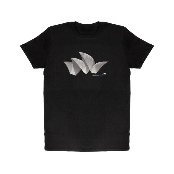 Sydney Opera House Pureform Men's T-Shirt Black