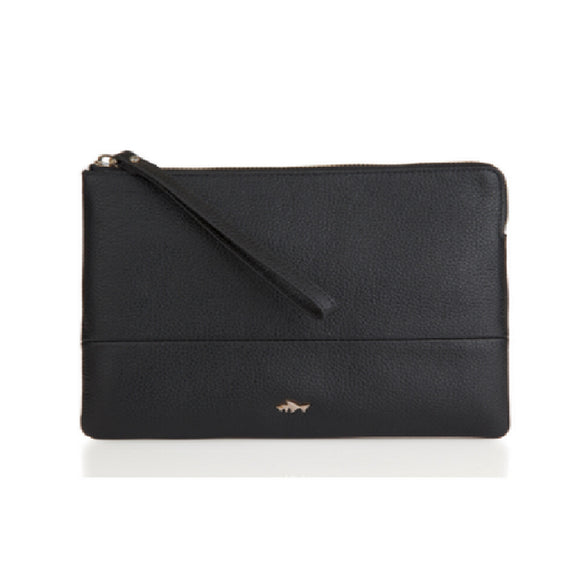 Minskat Lea Medium Clutch - Black