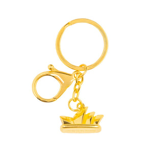 3D Model Sydney Opera House Gold Keyring