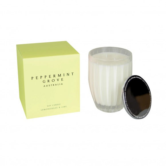 Peppermint Grove Soy Candle - Lemongrass & Lime
