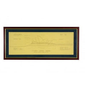 Sydney Opera House Architectural Print