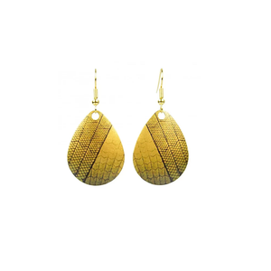 Shimmering Tile Earrings - Gold