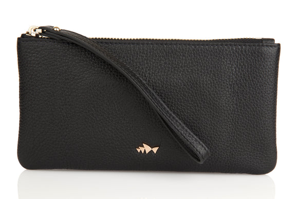 Minskat Zipped Purse Beatrix - Black