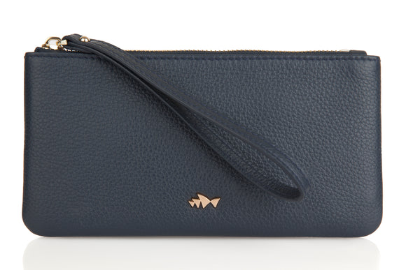 Minskat Zipped Purse Beatrix - Navy