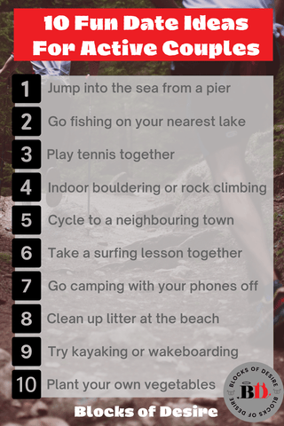 List of 10 fun date ideas for active couples