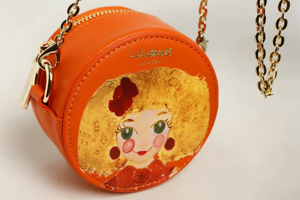 CLASSY SHIELA Red Yellow Round bag