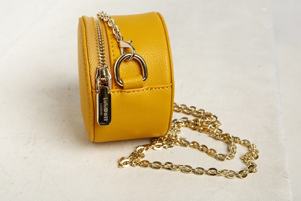 Smarty Mimi Mustard Yellow Round Bag
