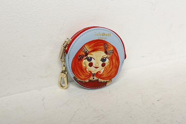 Sky Blue Wallet Key Chain