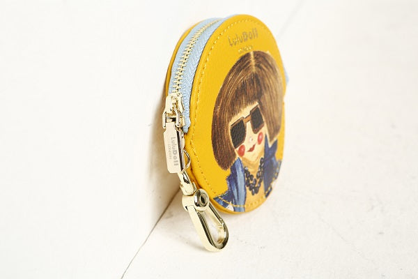 Mustard Yellow Zip Wallet Key Chain