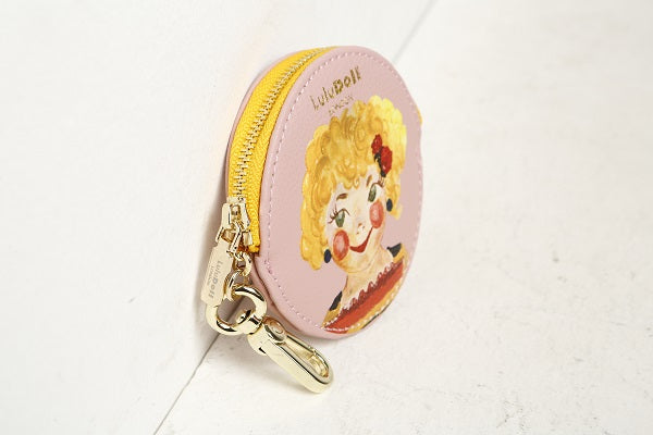 Rosy Pink Zip Wallet Key Chain