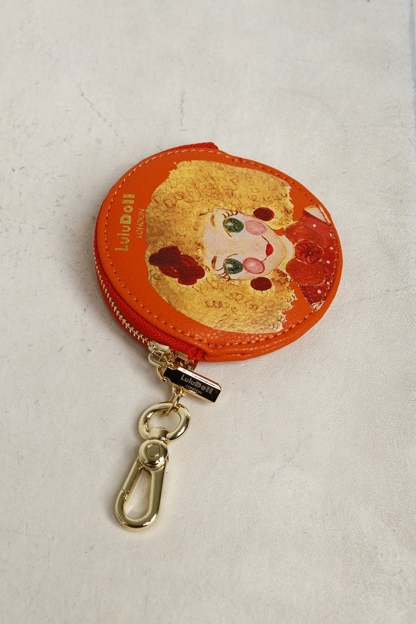 Red Yellow Zip Wallet Key Chain